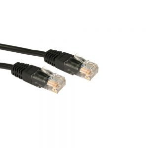 RJ45 Ethernet Cable - Cat5e LAN Network Patch Lead - 3 Metre - Black
