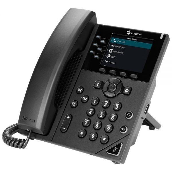 Polycom VVX 350 6-Line Mid-range Color IP Desktop Phone